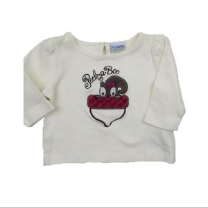Infant Top with Squirrel, Size 3 Months